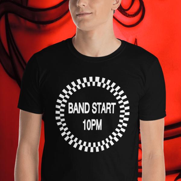 Man in a Band Start 10PM Tshirt by Anthony Mrugacz.