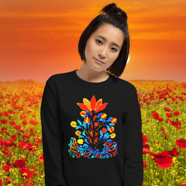 Gal with a Color Flower Bouqet Longsleeve from Mrugacz.