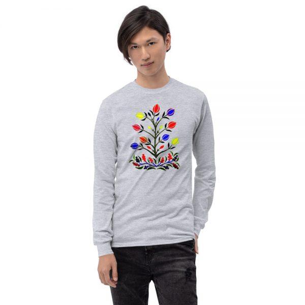 Man wearing a Mrugacz design t-shirt.
