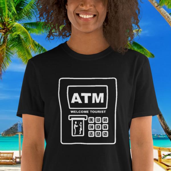 BGal wth a ATM Bank Card Safety Tshirt by Mrugacz.