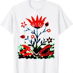 Forest fire flower deisgn t-shirt by Mrugacz.