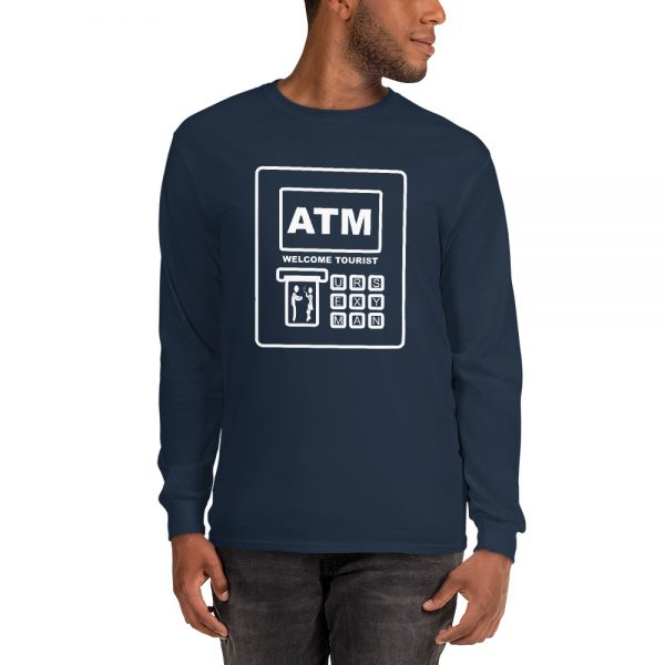 ATM in Thailand graphic on tshirt.