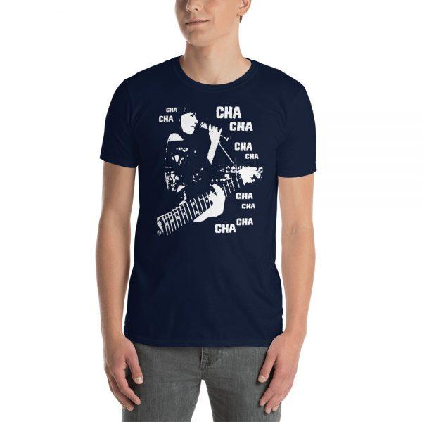 Man wearing a Mrugacz design tshirt.